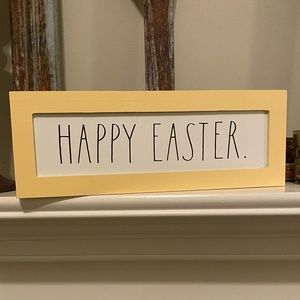 "Brand New Rae Dunn "" HAPPY EASTER"" sign"